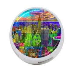 New York City Skyline 4-Port USB Hub (Two Sides)