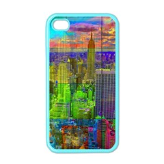 New York City Skyline Apple Iphone 4 Case (color)