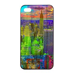 New York City Skyline Apple Iphone 4/4s Seamless Case (black)
