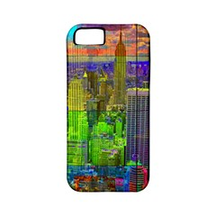 New York City Skyline Apple Iphone 5 Classic Hardshell Case (pc+silicone)