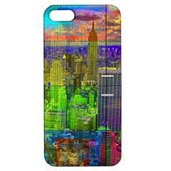 New York City Skyline Apple Iphone 5 Hardshell Case With Stand