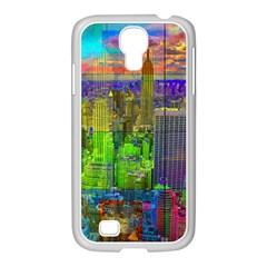 New York City Skyline Samsung Galaxy S4 I9500/ I9505 Case (white)