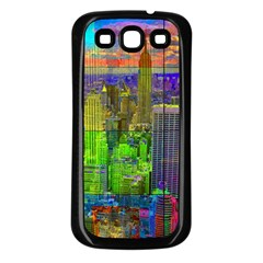 New York City Skyline Samsung Galaxy S3 Back Case (black)