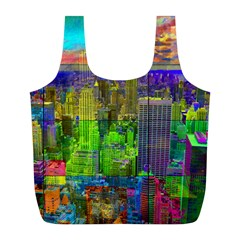 New York City Skyline Full Print Recycle Bags (l)
