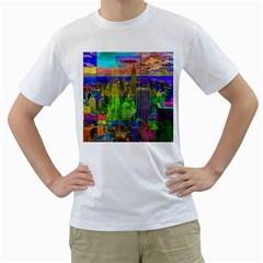 New York City Skyline Men s T Shirt (white)