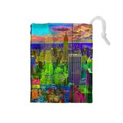 New York City Skyline Drawstring Pouches (medium)