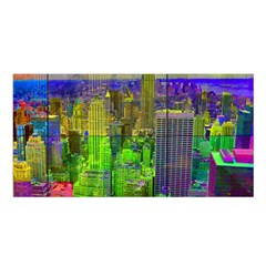 New York City Skyline Satin Shawl
