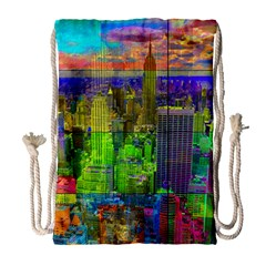 New York City Skyline Drawstring Bag (large)