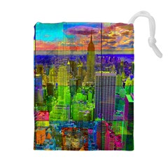 New York City Skyline Drawstring Pouches (extra Large)