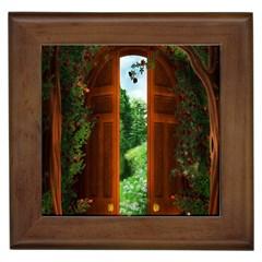 Beautiful World Entry Door Fantasy Framed Tiles