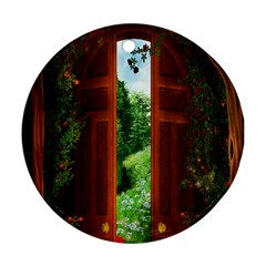 Beautiful World Entry Door Fantasy Ornament (round)