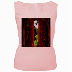 Beautiful World Entry Door Fantasy Women s Pink Tank Top