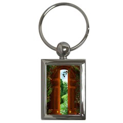 Beautiful World Entry Door Fantasy Key Chains (Rectangle)
