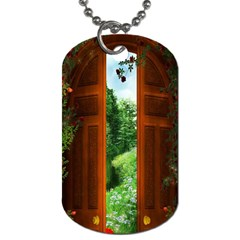 Beautiful World Entry Door Fantasy Dog Tag (two Sides)