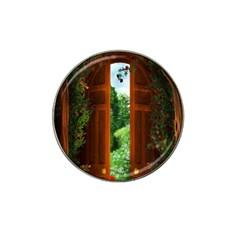Beautiful World Entry Door Fantasy Hat Clip Ball Marker