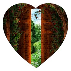 Beautiful World Entry Door Fantasy Jigsaw Puzzle (Heart)