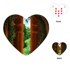 Beautiful World Entry Door Fantasy Playing Cards (heart)