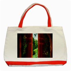 Beautiful World Entry Door Fantasy Classic Tote Bag (red)