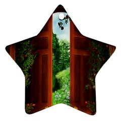 Beautiful World Entry Door Fantasy Star Ornament (two Sides)