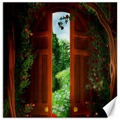 Beautiful World Entry Door Fantasy Canvas 12  x 12