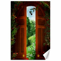 Beautiful World Entry Door Fantasy Canvas 24  x 36