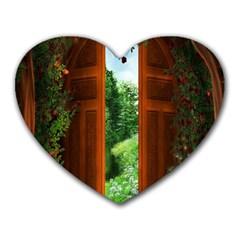 Beautiful World Entry Door Fantasy Heart Mousepads