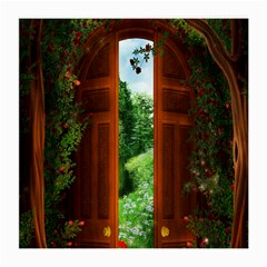 Beautiful World Entry Door Fantasy Medium Glasses Cloth