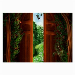 Beautiful World Entry Door Fantasy Large Glasses Cloth (2 Side)
