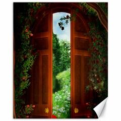 Beautiful World Entry Door Fantasy Canvas 11  X 14
