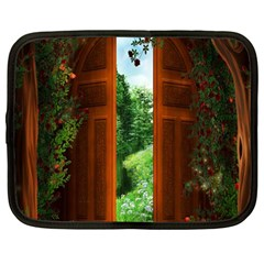 Beautiful World Entry Door Fantasy Netbook Case (large)