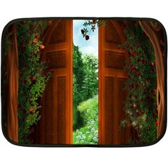 Beautiful World Entry Door Fantasy Double Sided Fleece Blanket (mini)