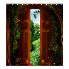 Beautiful World Entry Door Fantasy Shower Curtain 66  x 72  (Large)