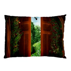 Beautiful World Entry Door Fantasy Pillow Case (two Sides)