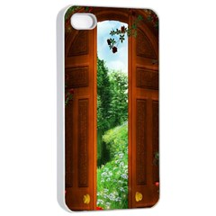 Beautiful World Entry Door Fantasy Apple Iphone 4/4s Seamless Case (white)