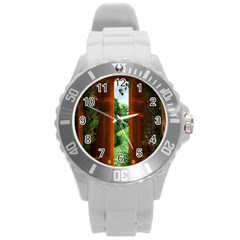 Beautiful World Entry Door Fantasy Round Plastic Sport Watch (l)