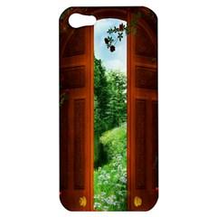 Beautiful World Entry Door Fantasy Apple Iphone 5 Hardshell Case