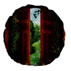 Beautiful World Entry Door Fantasy Large 18  Premium Round Cushions