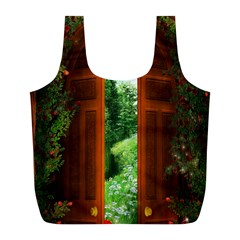 Beautiful World Entry Door Fantasy Full Print Recycle Bags (l)