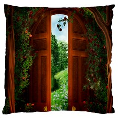Beautiful World Entry Door Fantasy Standard Flano Cushion Case (two Sides)