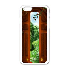 Beautiful World Entry Door Fantasy Apple Iphone 6/6s White Enamel Case