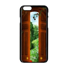 Beautiful World Entry Door Fantasy Apple iPhone 6/6S Black Enamel Case