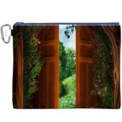 Beautiful World Entry Door Fantasy Canvas Cosmetic Bag (XXXL)