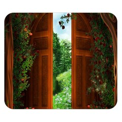 Beautiful World Entry Door Fantasy Double Sided Flano Blanket (small)