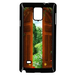 Beautiful World Entry Door Fantasy Samsung Galaxy Note 4 Case (black)