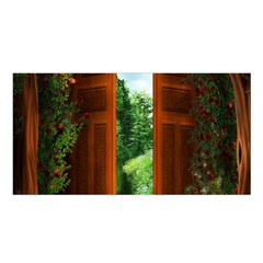 Beautiful World Entry Door Fantasy Satin Shawl