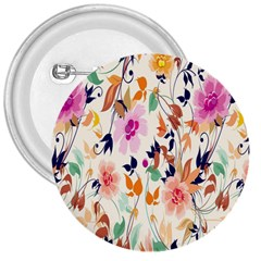 Vector Floral Art 3  Buttons
