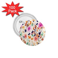 Vector Floral Art 1.75  Buttons (100 pack)