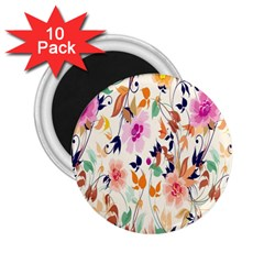 Vector Floral Art 2 25  Magnets (10 Pack)