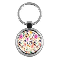 Vector Floral Art Key Chains (round)