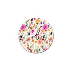 Vector Floral Art Golf Ball Marker (10 Pack)